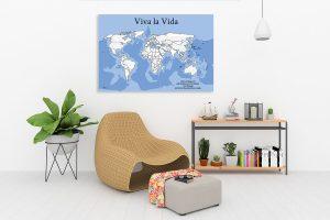 Weltkarte zur Wohnungseinrichtung und Wanddekoration