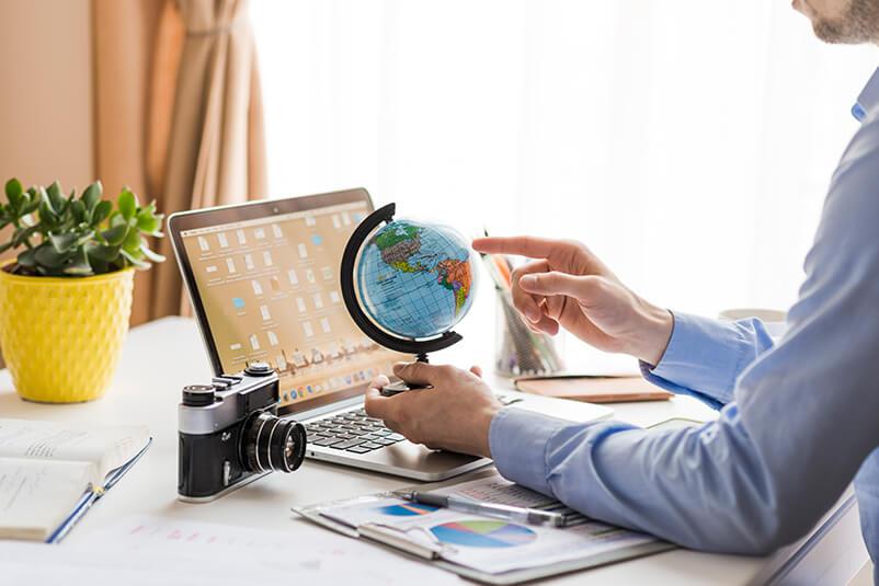 Weltkarte fürs Reisebüro