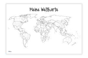 Weltkarte Meine-Weltkarte