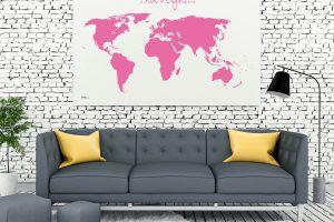 Wanddekoration Landkarte