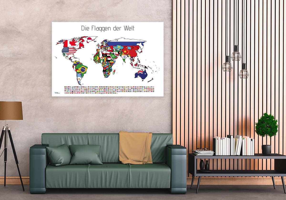 Alle Länder mit Flaggen