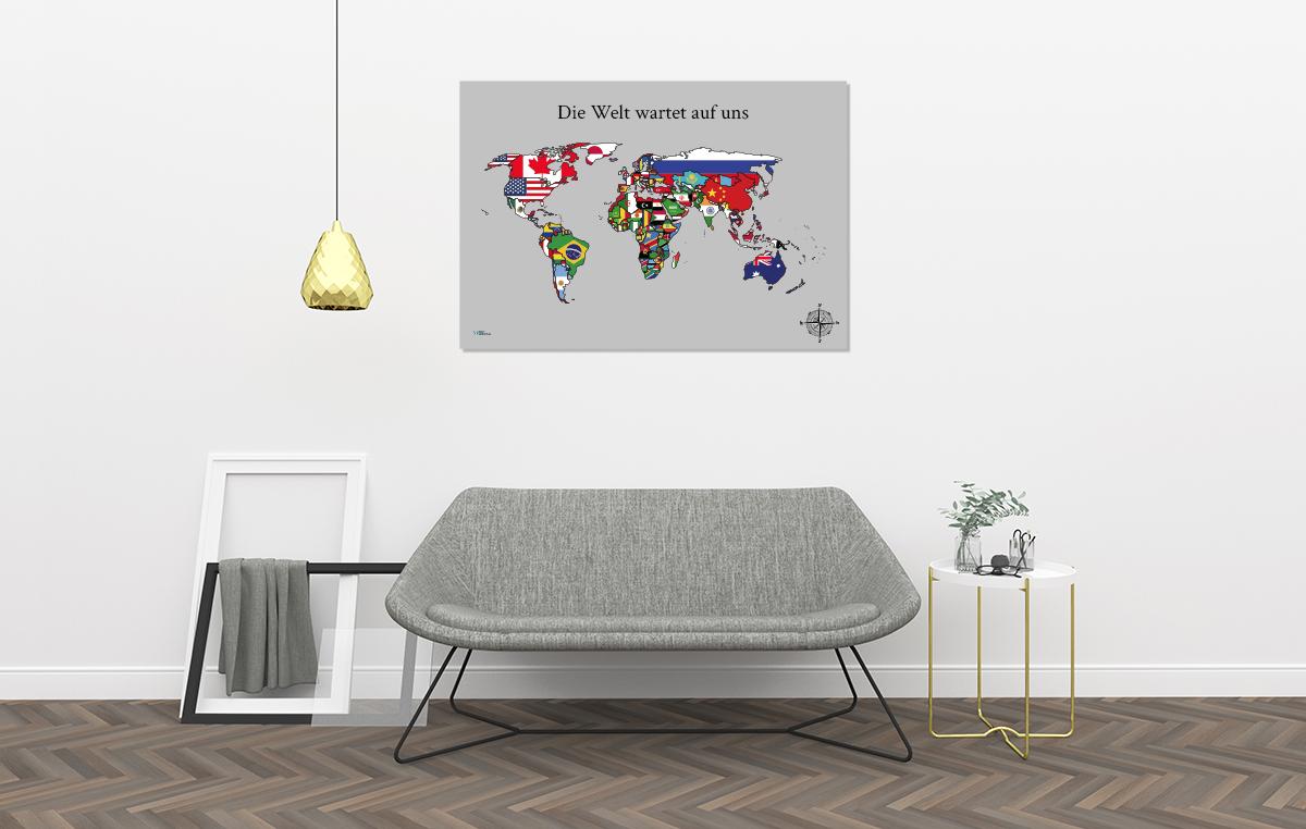 Länder mit Flaggen