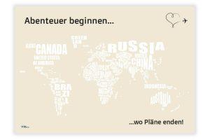 Weltkarte zum Ausmalen der bereisten Länder