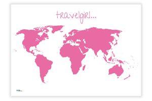 Mädchenweltkarte